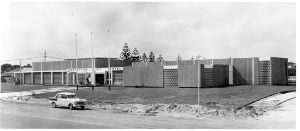 Geraldton Civic Centre, 1963. Photo donated to the Geraldton Regional Library by O. C. Burns