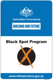 Federal Government Black Spot Sign