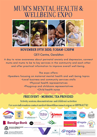 Mums Mental health expo flyer