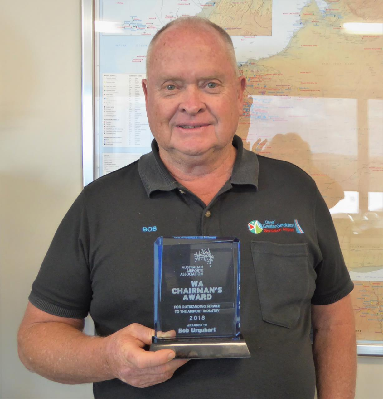 Airport Manager awarded for outstanding service