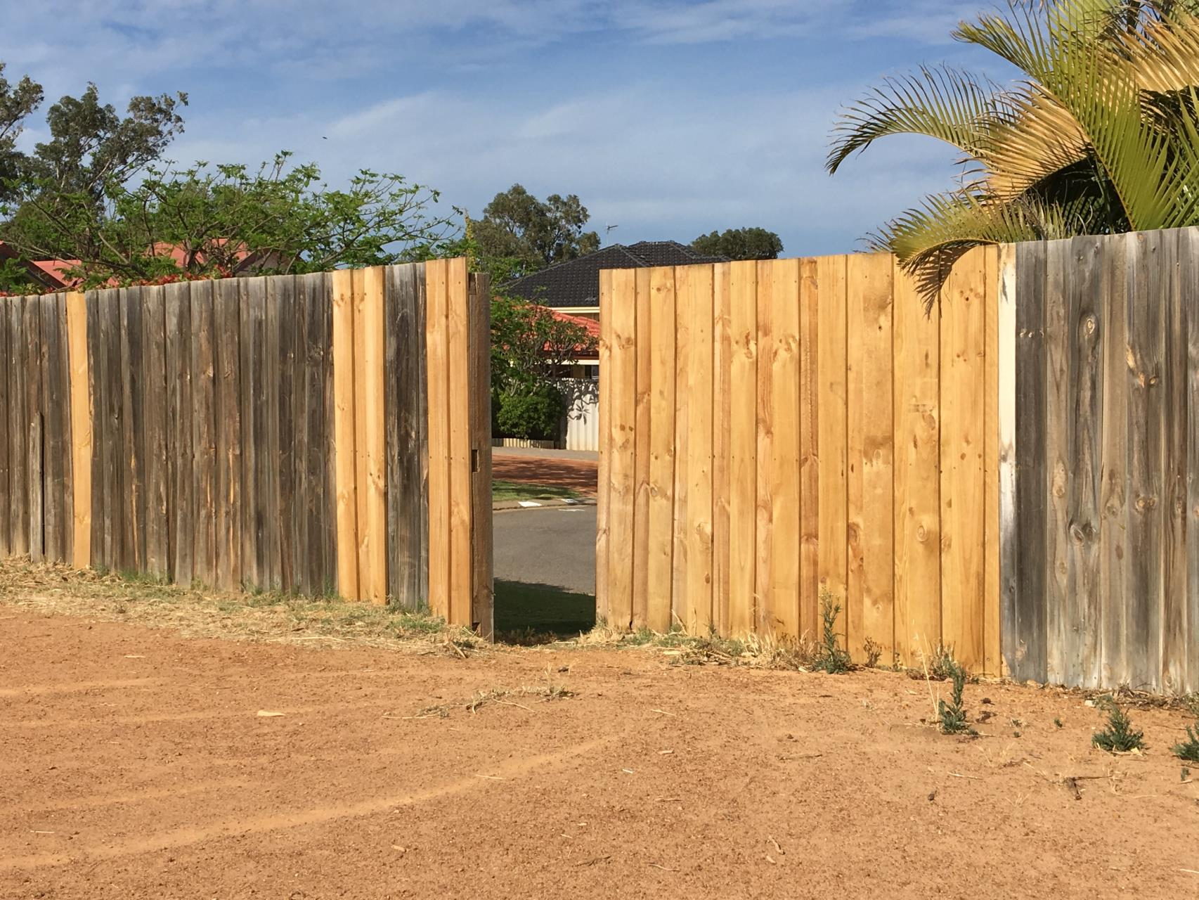 Fence opening