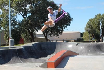 Geraldton local youth at Wonthella Skate Park