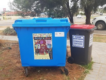 New locations for blue plastic recycle bins in Geraldton