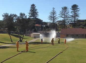 New bush fire brigade volunteers put through paces
