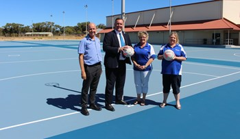 Grant funds resurface netball courts