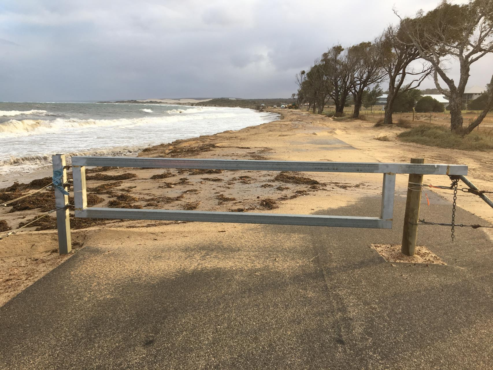 Whitehill Road coastal protection works begin
