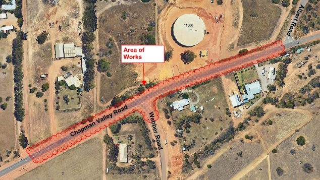 Chapman Valley Road works