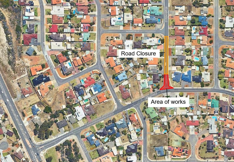 Glenview Street Road works and closure